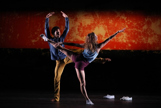 Anthony Bryant and Rachelle Rafailledes on Justin Peck's Murder Ballads. Photo: Julieta Cervantes
