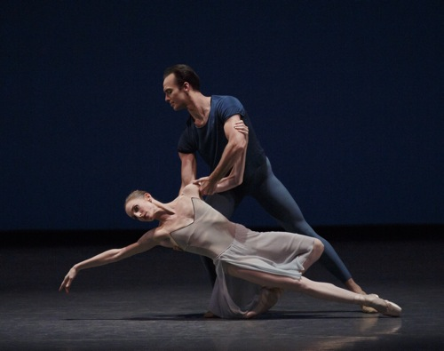 Whelan and Tyler Angle in By Two, With and From, by Christopher Wheeldon and Alexei Ratmansky. Photo: Paul Kolnik