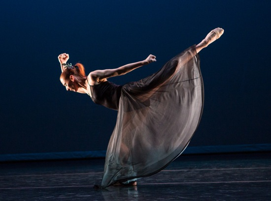 Blakely White-McGuire channels Martha Graham in a movement from Letter to the World. Photo: Yi-Chun Wu