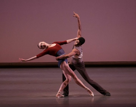 Sara Mearns and Amar Ramasar in Justin Peck's 'Rōdē,ō. Photo: Paul Kolnik