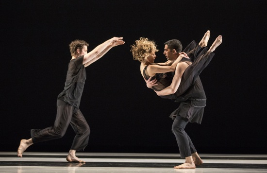 (L to R): Brynt Beitman, Heidi Latsky, and Gregory Youdan Jr. in Latsky's Solo Counter Solo. Photo: Marina Levitskaya