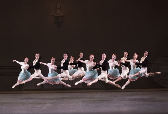 New York City Ballet dancers in Bournonville Divertissements. Photo: Paul Kolnik