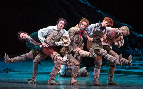 Shakespeare's rustics (L to R): James Wilkie, Erico Montes, Sander Blommaert, Benjamin Ella, Kevin Emerton. Photo: Yi-Chun Wu