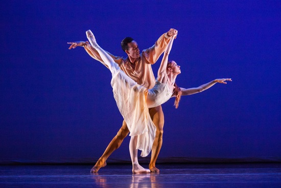 Danielle Brown and Ricardo Rhodes in Christopher Wheeldon's The American. Photo: Christopher Duggan