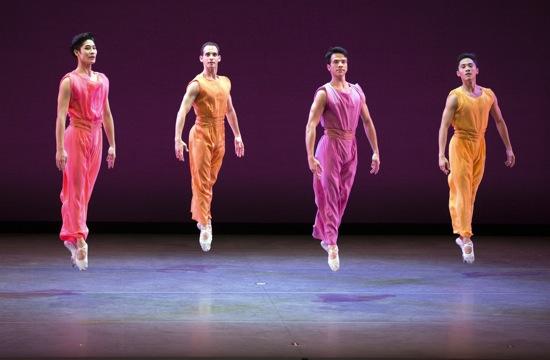 Mark Morris's After You. (L to R): Joo Won Ahn, Craig Salstein, Arron Scott and Jeffrey Cirio. Photo: Rosalie O'Connor.