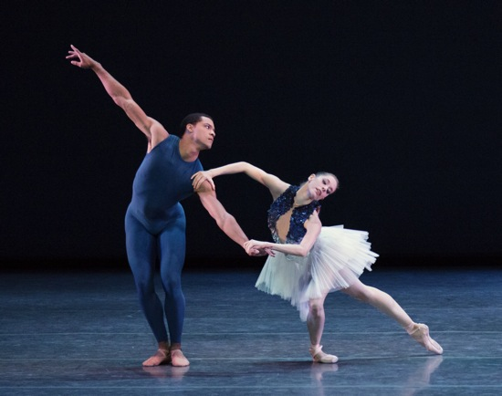 Preston Chamblee and Rebecca Krohn in Robert Binet's The Blue of Distance  Photo: Paul Kolnik