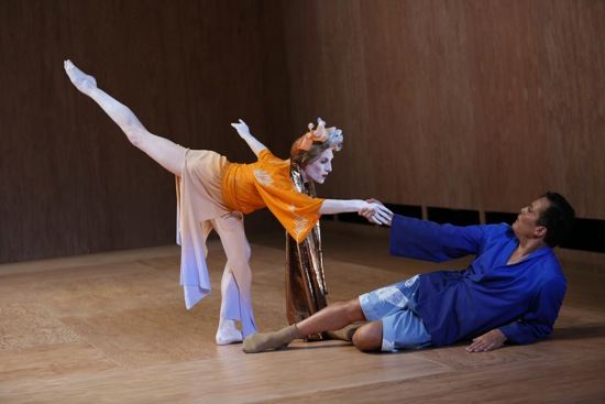 Hagoromo: Wendy Whelan inviting Jock Soto to dance.  Photo: Julieta Cervantes