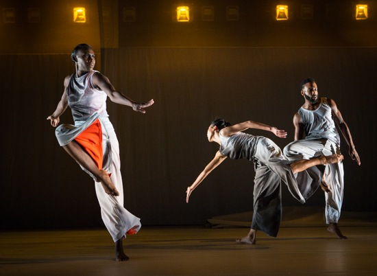 "(L to R): Penda N'diaye, Connie Shiau, and Jeremy ""Jae"" Neal in Absent Matters. Photo: Yi-Chun Wu"