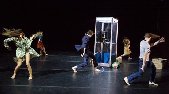 Members of VIM VIGOR DANCE COMPANY in Shannon Gillen's Separati. (L to R): Lavinia Vago, Emma Whiteley, Jason Cianciulli, Laja Field, Martin Dûrov. Photo: Yi-Chun Wu