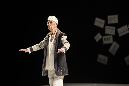 Valda Setterfield in Lear. Photo: Maria Baranova