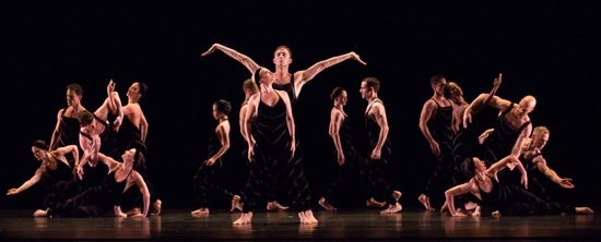 A tableau from Paul Taylor's Promethean Fire. Center: Jamie Rae Walker and James Samson. Photo: Yi-Chun Wu