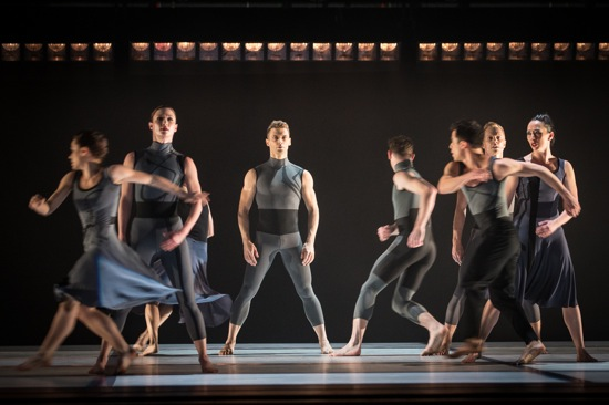 Larry Keigwin's Rush Hour. Rushing past in the foreground: Eran Bugge (L) and Francisco Graciano. Identifiable behind them (L to R): Laura Halzack, Mochael Novack, Michael Trusnovec, and Christina Lynch Markham. Photo: Yi-Chun Wu