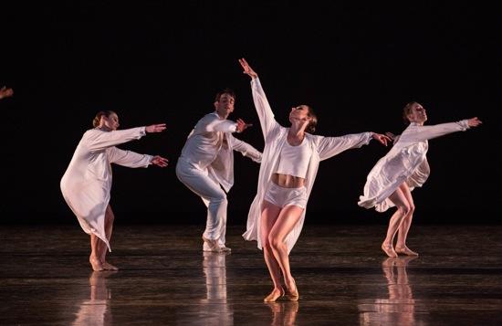 Four members of Miami City Ballet in Twyla Tharp's Sweet Fields. Photo: Daniel Azoulay