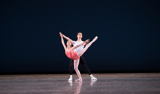 Ashley Knox and Jovani Furlan of Miami City Ballet in George Balanchine's Symphony in Three Movements. Photo: Daniel Azoulay