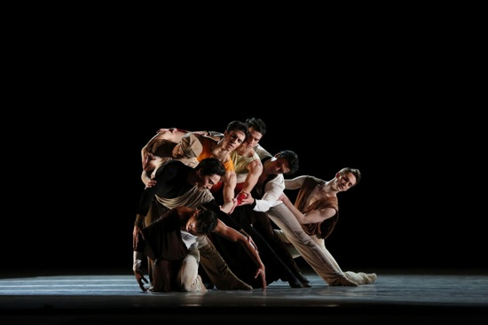 The companions in Ratmansky's Serenade after Plato's Symposium. Photo: Marty Sohl