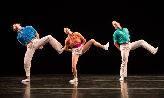(L to R) Nicholas Coppula, Amy Ruggiero, and Daniel Baker in Brahma Paganini. Photo: Yi-Chun Wu