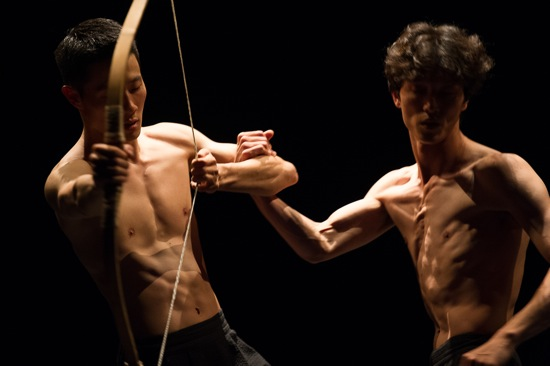 Jae-wu Jung (L) and Cheol-in Jeong in Soon-ho Park's Bow. Photo: Christopher Duggan
