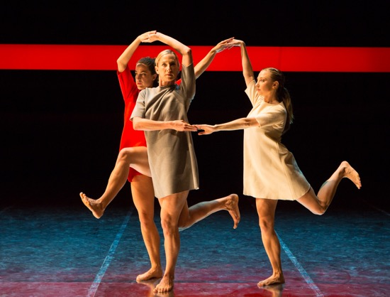 Three Graces (L to R): Claire Westby, Heather Lang, and Maggie Cloud. Photo: Yi-Chun Wu