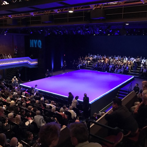 The Joyce Theater reconfigured for the NY Quadrille performances. Photo: Billy Zavelson, courtesy of Richard Kornberg Associates