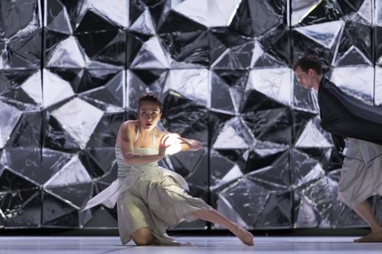 Merete Hersvik of Danish Dance Theatre in Tim Rushton's Black Diamond. Photo: Costin Radu