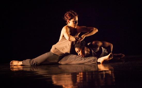 Nicole Diaz (L) and Kayla Farrish in Kate Weare's Marksman. Photo: Yi-Chun Wu