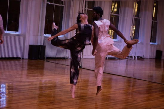 Colleen Thomas and Oluwadamilare in Bill Young's Interleaving. Photo: Julia Discenza