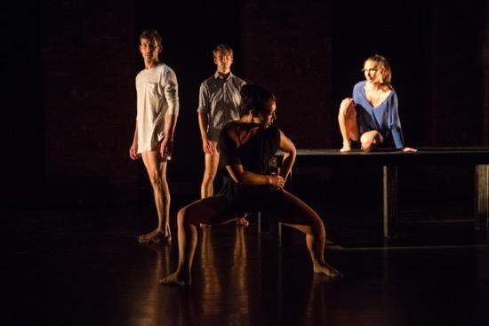 (L to R): Dylan Crossman, Jason Collins, Sumi Clements, and Sarah Haartmann. Photo: Scott Shaw