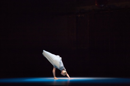 Lucinda Childs Dance Company's Katherine Helen Fisher in Pastime. Photo: John Sisley