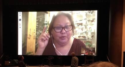 Stephanie Castillo at Normal Theatre talkback (1)