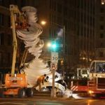 Giant Paper Sculptures on Park Avenue