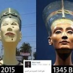 Giant Bust Of Nefertiti Taken Down After Relentless Mockery