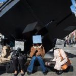 This Is Why Actors Were Wandering Around Astor Place With Mirrored Cubes On Their Heads