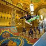 Skaters Put An Art-Deco Half-Pipe Inside 'Detroit's Largest Art Object'