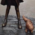 War Of The Wall Street Statues: 'Charging Bull' And 'Fearless Girl' Joined By 'Pissing Pug'