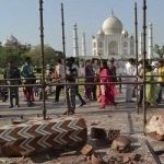 Pillars At Taj Mahal Destroyed In Violent Storm