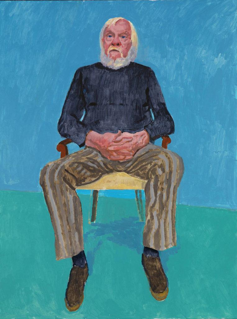 "David Hockney ""John Baldessari, 13-16 December"" 2013 Acrylic on canvas 48 x 36"" © David Hockney Photo Credit: Richard Schmidt"