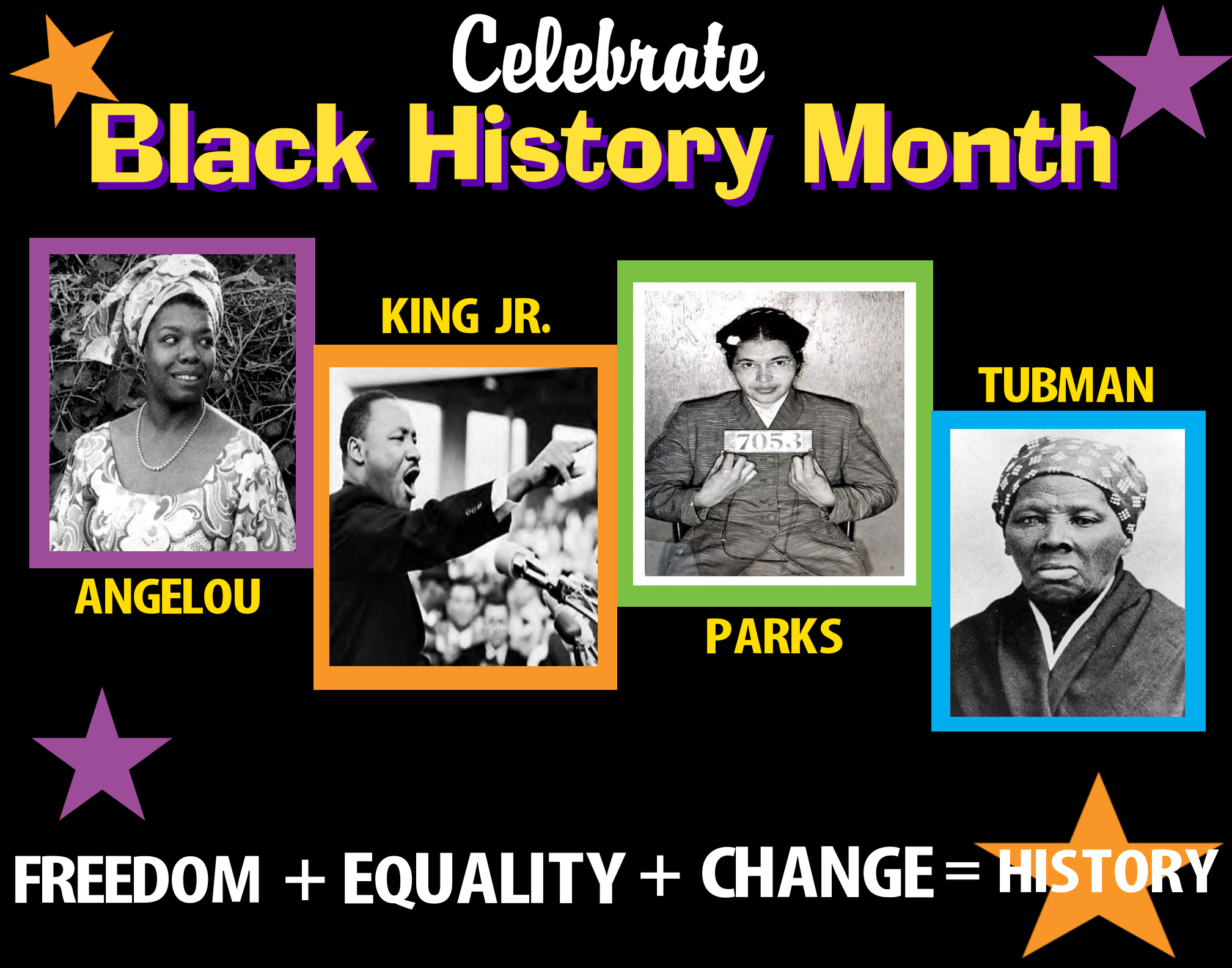 Create A Poster About Celebrate Black History Month