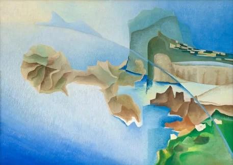 Aeropittura di un incontro con l'isola (1935-1936 c.), olio su tela, Galleria nazionale d'arte moderna di Roma.