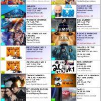 July 2017 cinema poster