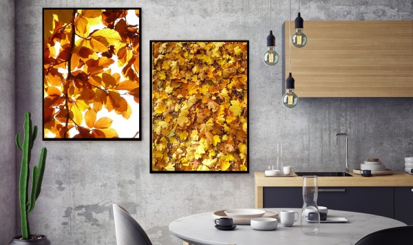Pack 2 Tableaux Gold nature