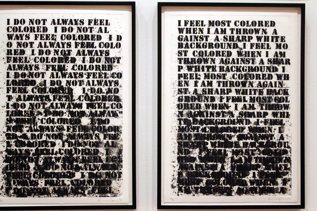 Image result for Glenn Ligon's How It Feels to be Colored Me
