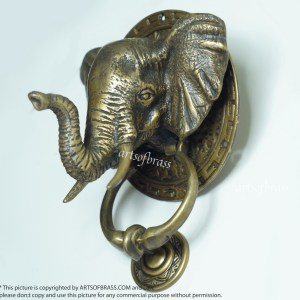 Brass home decor cabinet drawer knob pull handle - Brass elephant door knocker ...