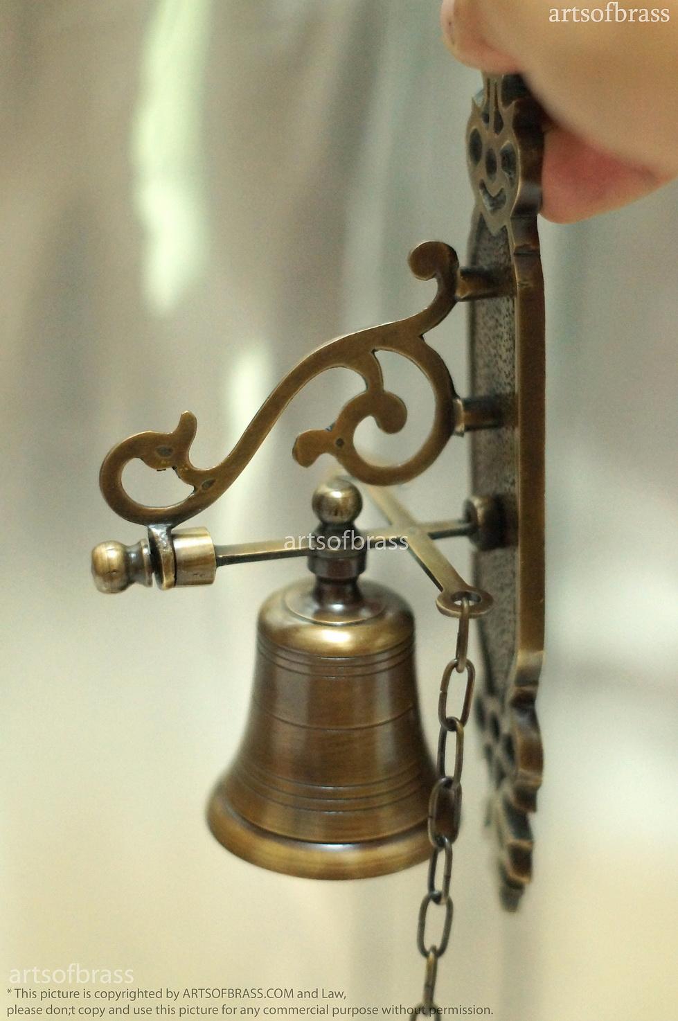 8.2u2033 Inches Vintage Solid Brass Door Bell Swing Antique ...