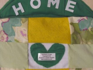 "Artsphoria Craft Boutique  Patchwork of Hope: ""Home"" tote bag"