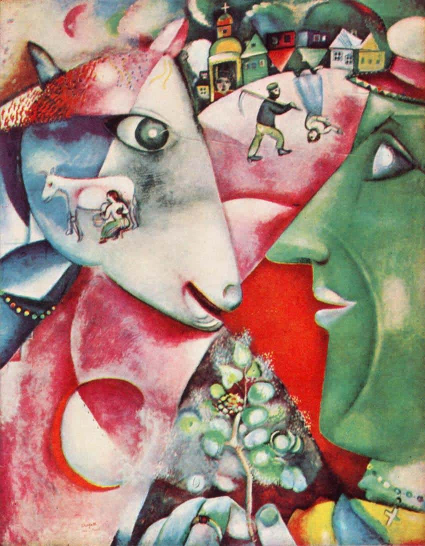 """I and the Village"" Marc Chagall, 1911"