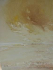 Olieverf schilderij: Waddenzee Ameland