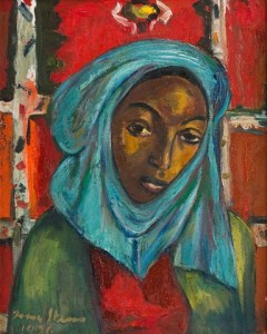 Lot 226 - Irma Stern, Woman with Blue Headscarf, R2 000 000 – 3 000 000