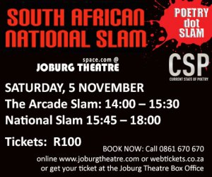 Joburg Theatre hosts the grand finale of the South African National Slam: POETRY dot SLAM 2016