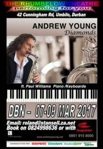 Diamonds - Saxophonist Andrew Young - Poster