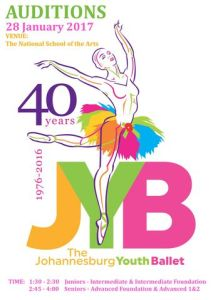 Johannesburg Youth Ballet JYB Auditions 2017